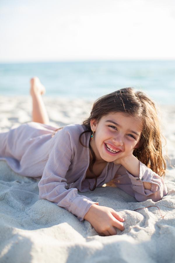 girl laughing miami beach