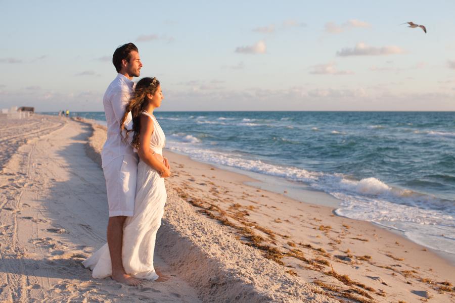 Small Intimate Miami Wedding Ceremony At Sunrise
