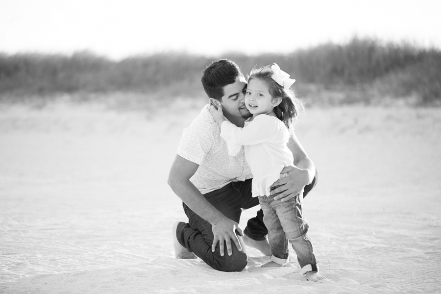 Daughter hugging father Miami Beach