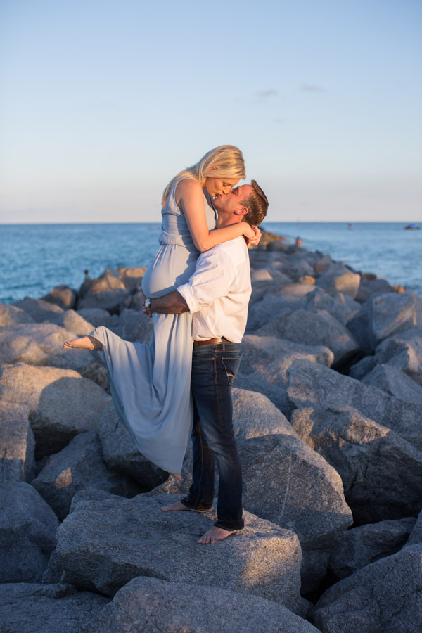 Miami Beach Couple Photography Sunset Session at South Pointe Park