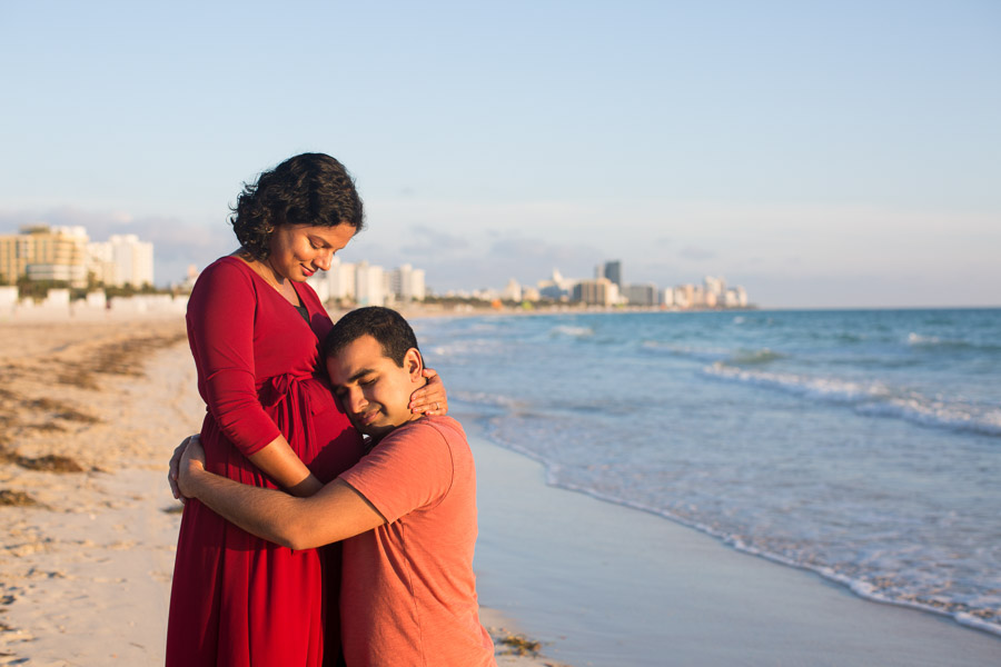 Miami Maternity Photographer Sunrise Beach Session