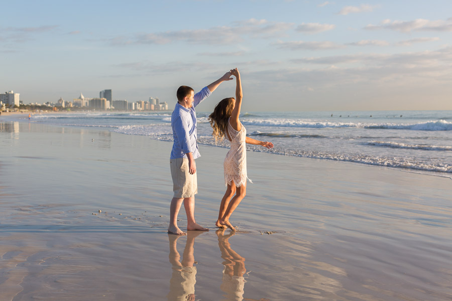 Miami Engagement Photographer Sunrise Beach Session