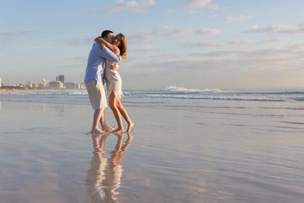 Miami Engagement Photographer Sunrise Beach Session