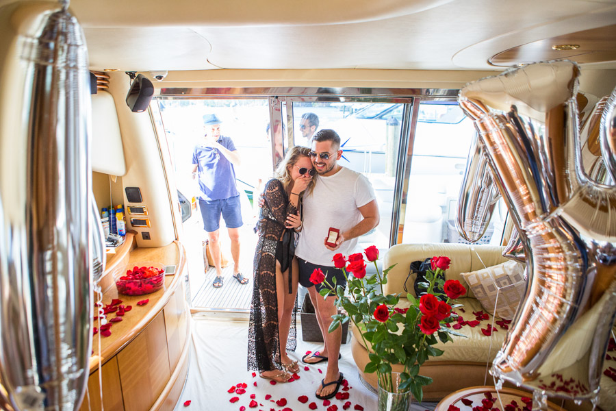 Miami Yacht Surprise Proposal Photography Session