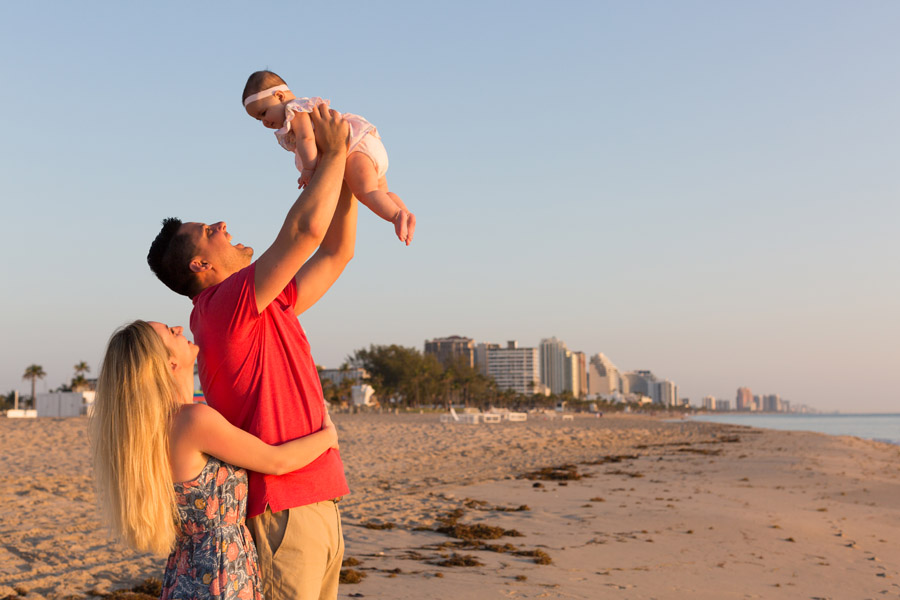 Fort Lauderdale Family Photography Sunrise Beach Session
