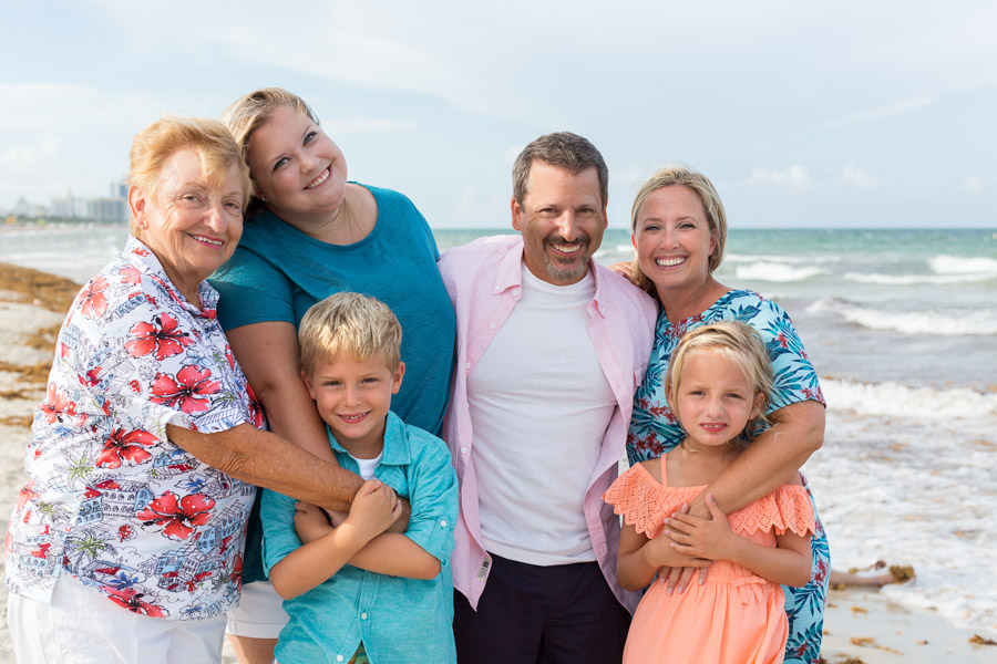 South Pointe Park Family Photography Session Miami Beach Florida