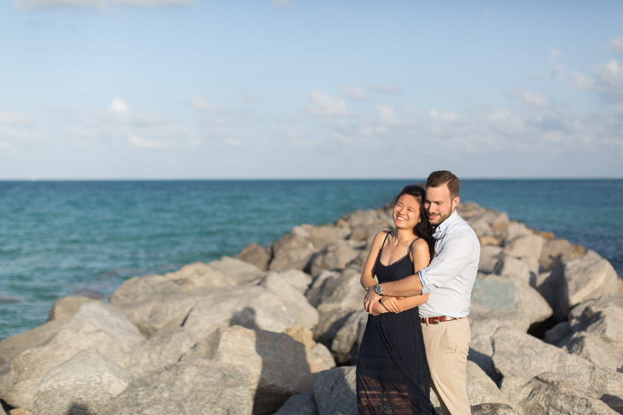 South Pointe Park Surprise Proposal and Engagement Photography Session
