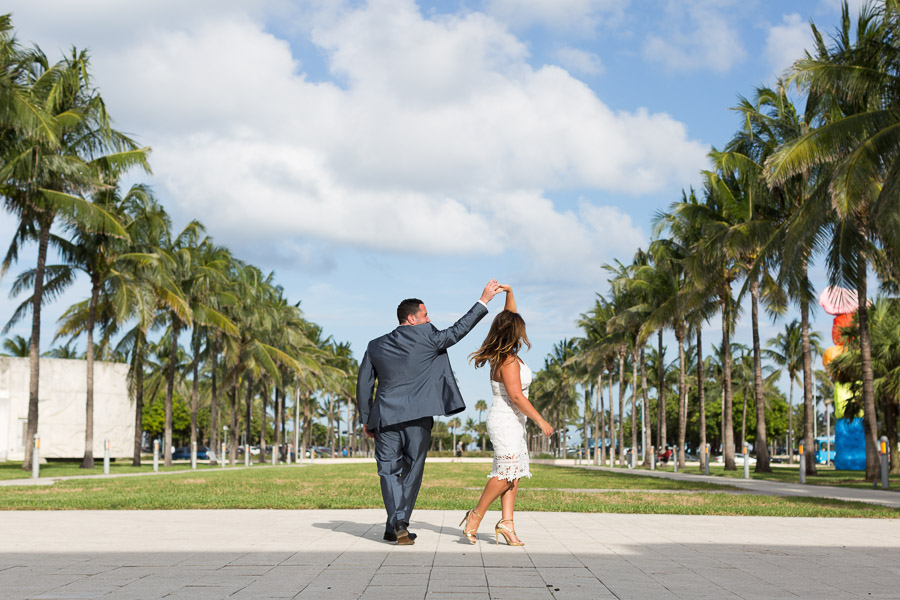 Collins Park and Setai Miami Beach Couple Anniversary Photographer