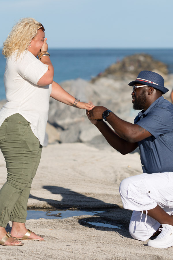 Surprise proposal photography session Miami Beach