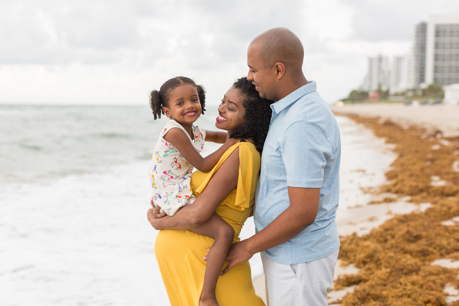 Family of Three Miami Maternity Photographer