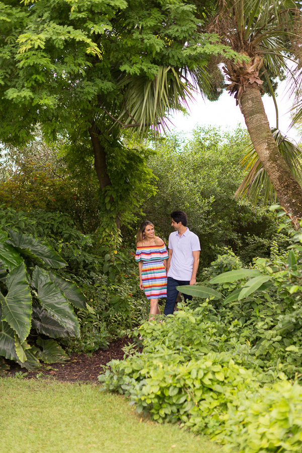 Miami Beach Botanical Gardens Engagement Photographer