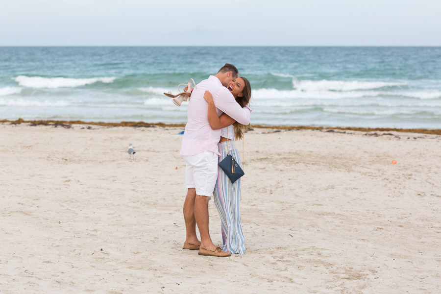 South Pointe Park Surprise Proposal Photo Shoot