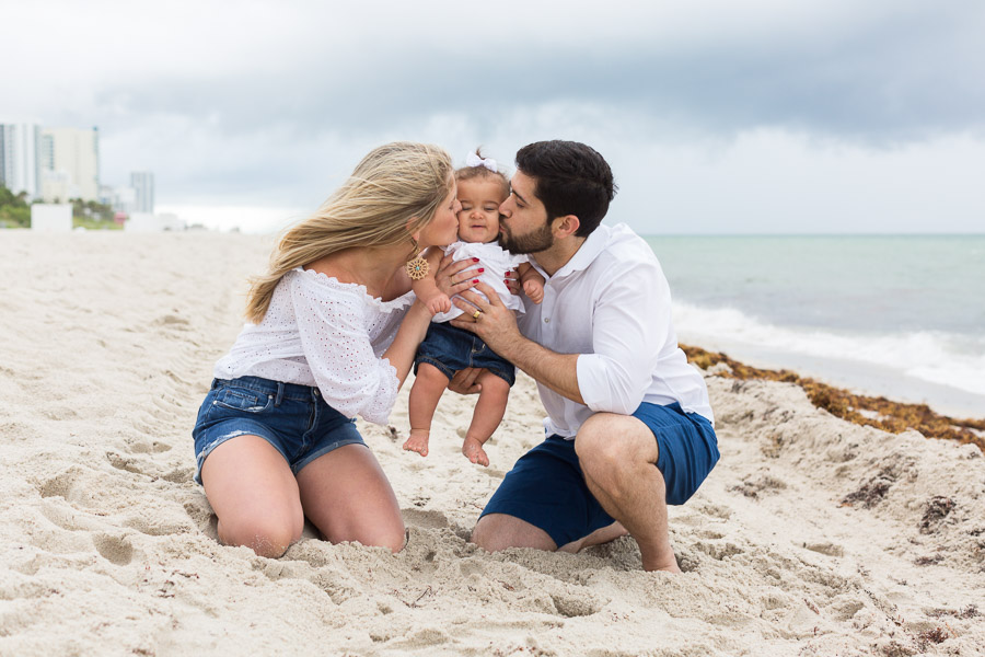 Family of Three Sunrise Beach Session at the Fontainebleau
