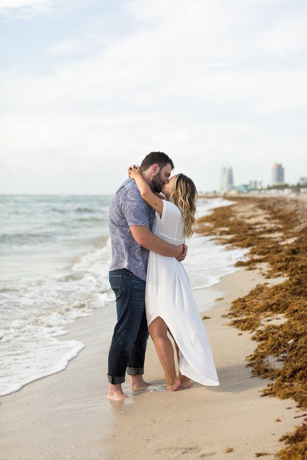 Nautilus South Beach Engagement Photo Session at Sunrise