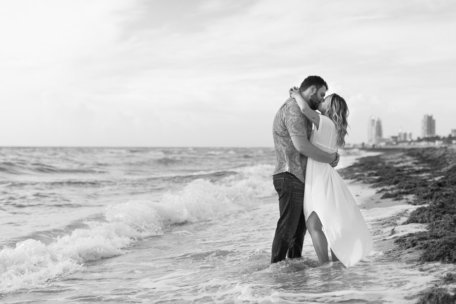 Nautilus South Beach Engagement Photo Session at Sunrise