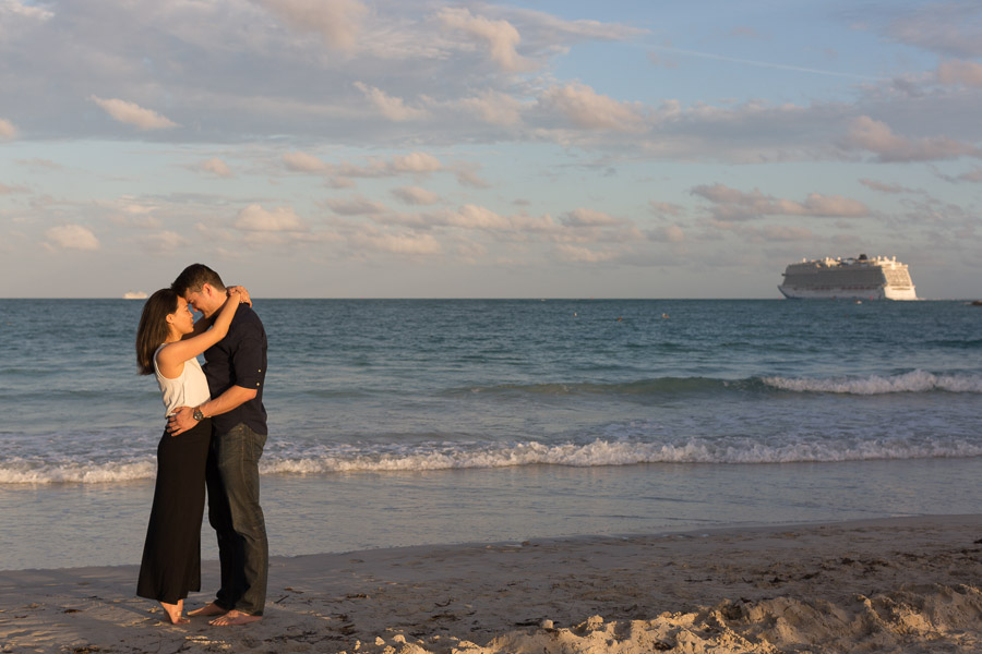 Surprise Proposal in South Beach, Florida