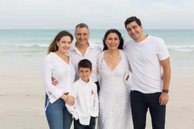 South Beach Family of Five Photography Session