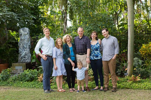 Family Photography Session at Miami Beach Botanical Garden
