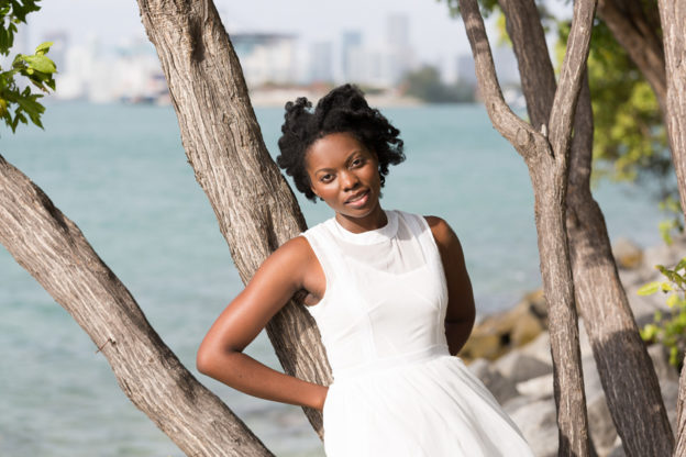 Portrait of a Young Woman in Miami Beach