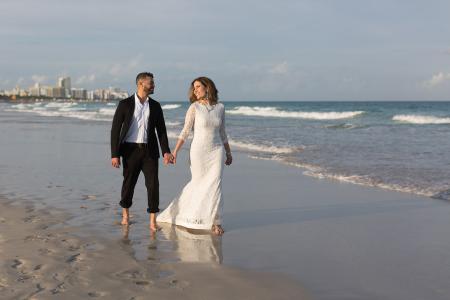 15 year anniversary photography session miami beach