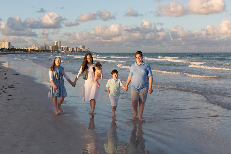 Miami Family Beach Photo Shoot Sunset