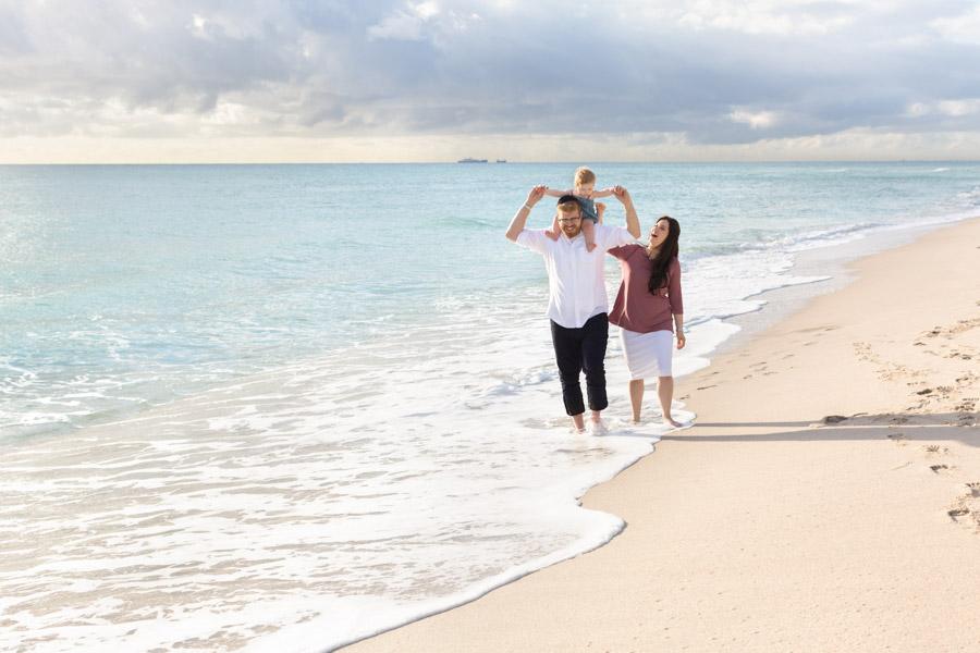 Family of Three Sunrise Beach Session Miami
