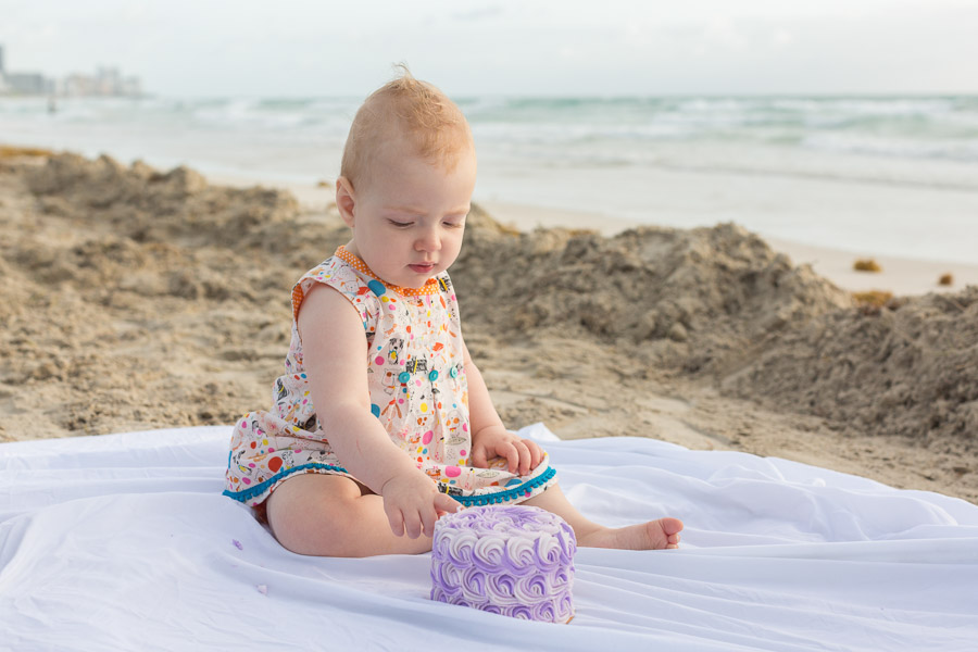 One year old cake smash photographer miami beach