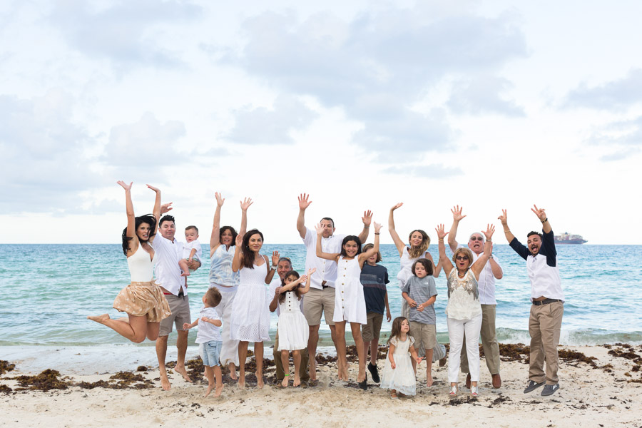 Extended Family Miami Beach Photo Shoot