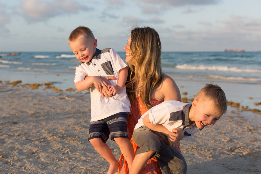 Sunset Family Photography Session Miami Beach