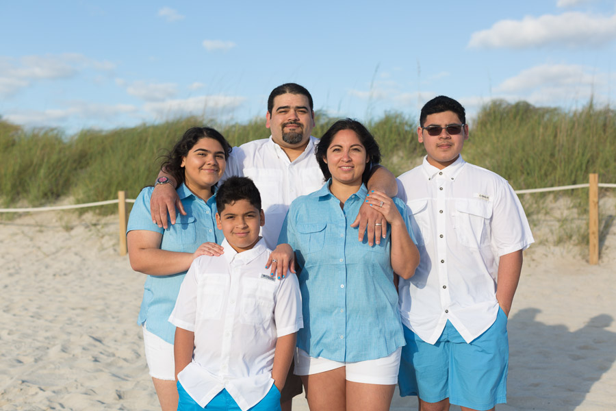 Miami Family of Five Sunrise Beach Photography Session