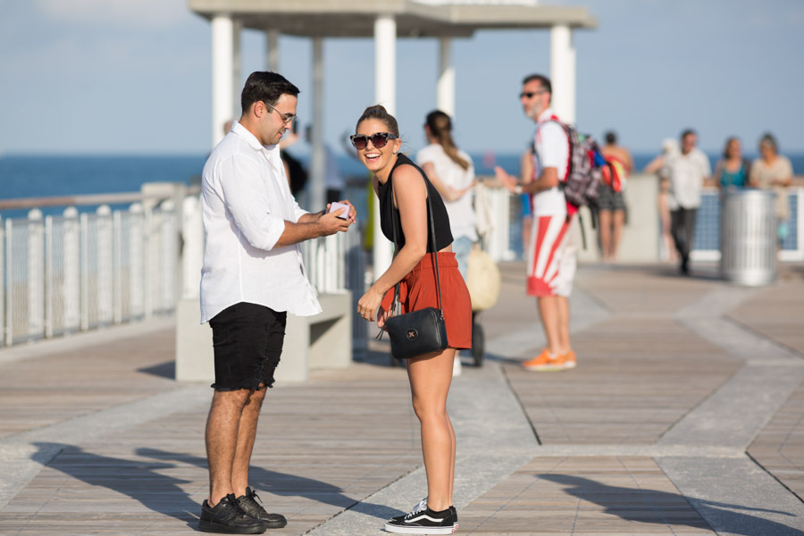 South Pointe Park Pier Proposal Photography