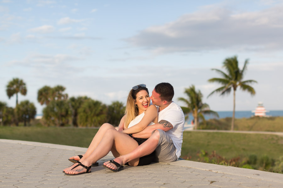 South Pointe Park Beach Proposal Photographer