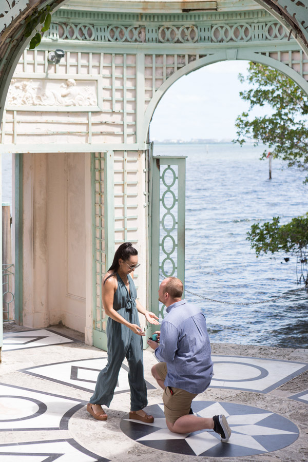 Vizcaya Proposal Engagement Photography Session