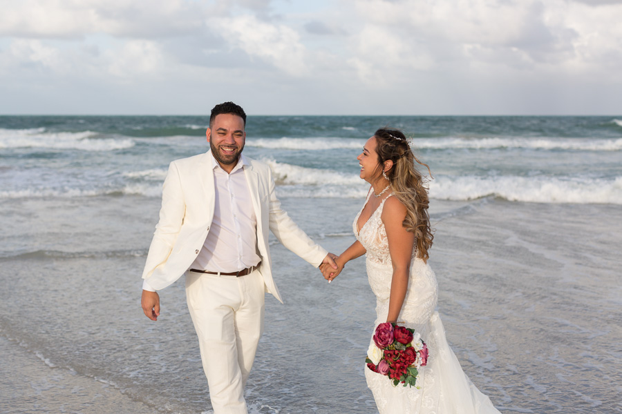 Miami Beach Couple Photography Session in Wedding Attire