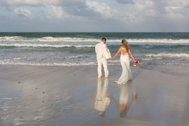 Miami Beach Couple Photography Session in Wedding Attire
