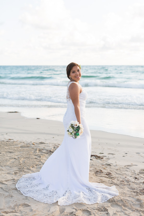 Family Wedding Portraits on the Beach in Miami