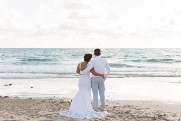 Family Wedding Portraits on the Beach in Miami