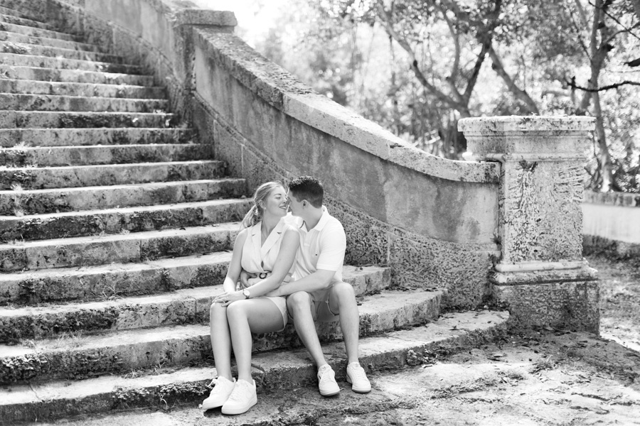 Vizcaya Museum Surprise Proposal Engagement Photographer