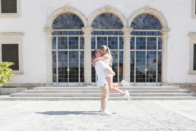 Vizcaya Museum Surprise Proposal Engagement Photographer
