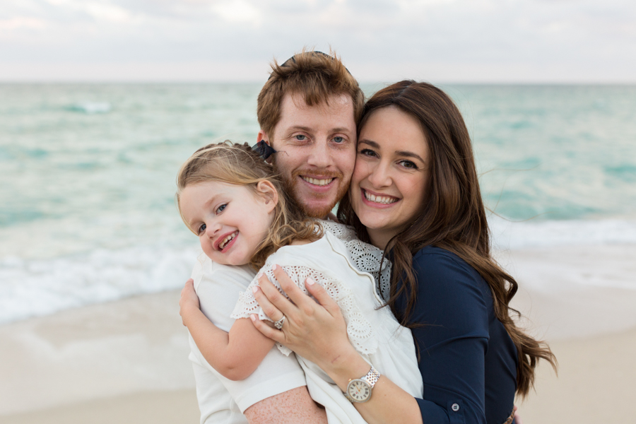surfside family beach photography sunset session