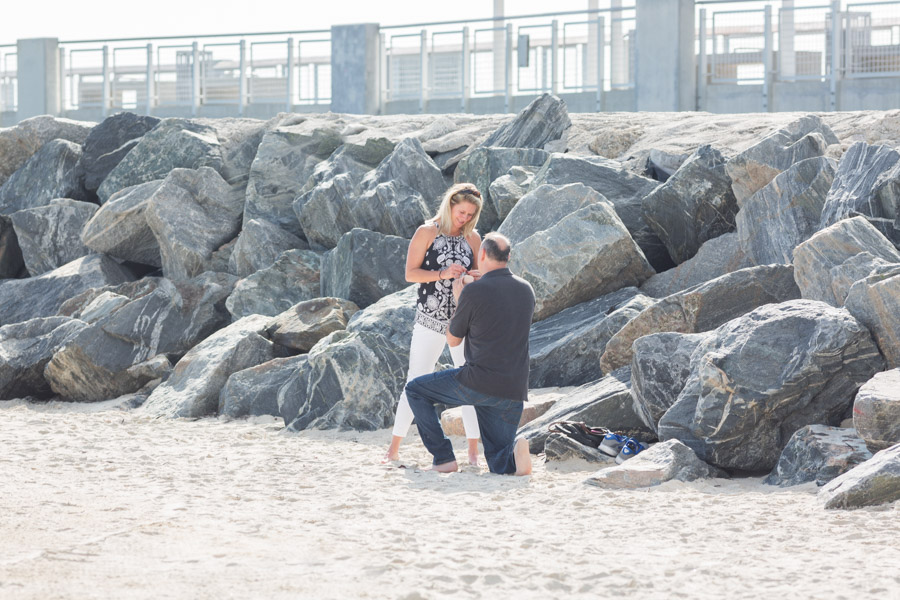 South Pointe Pier Proposal Photography Session