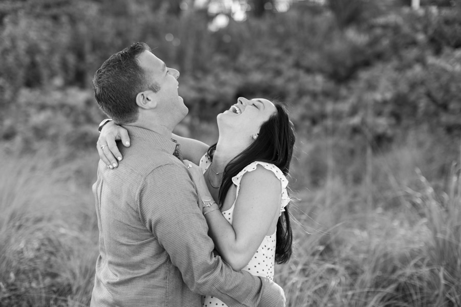 couple laughing miami engagement