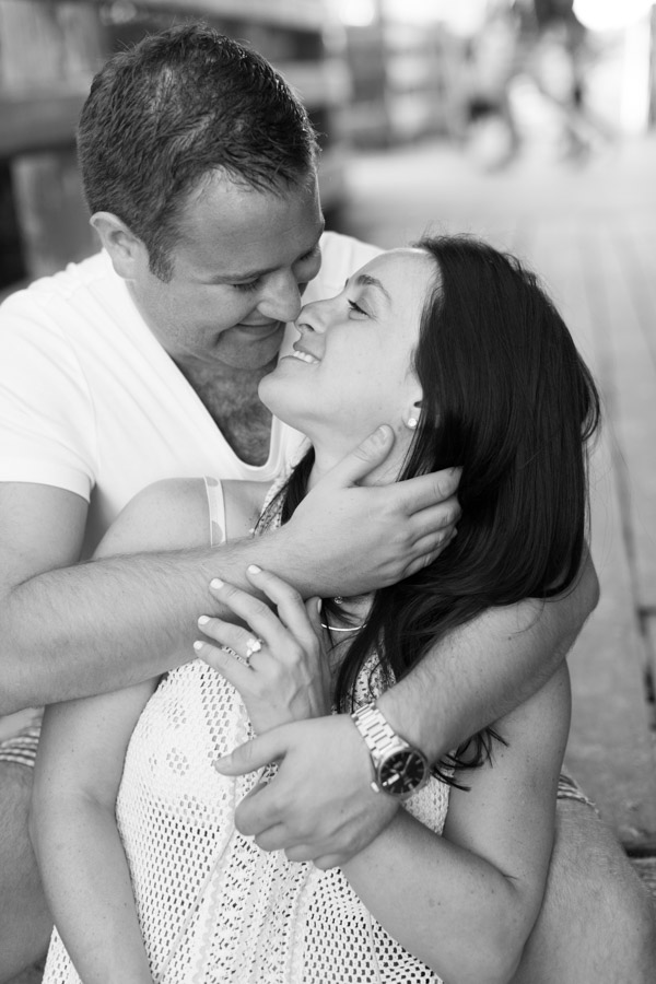 black and white couple engagement