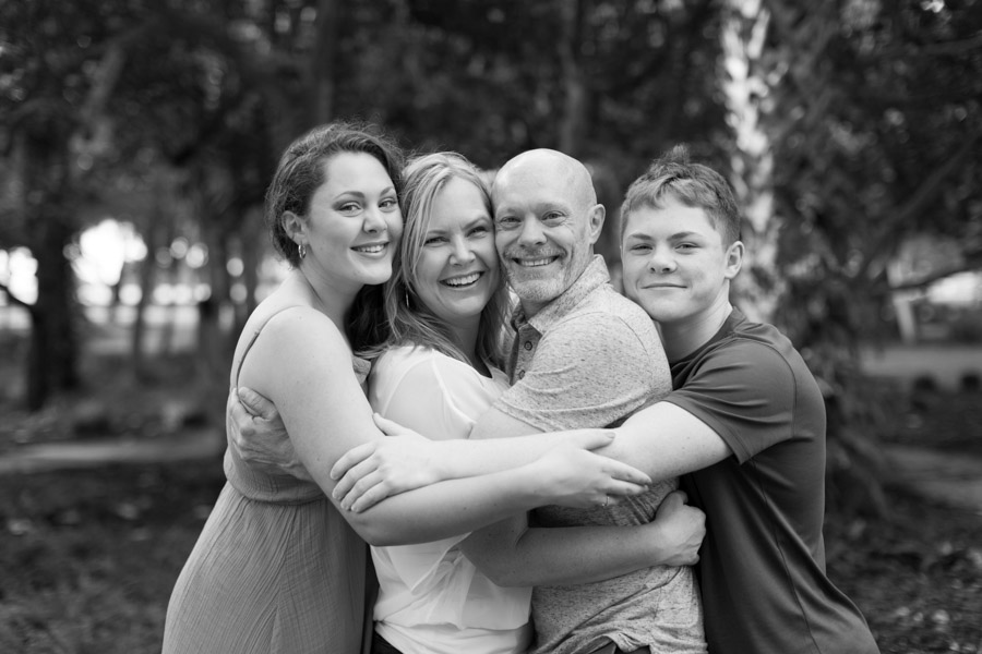 South Pointe Park Family of Four Photography Session