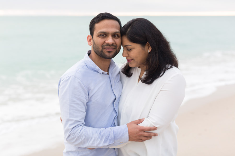 couple beach portrait