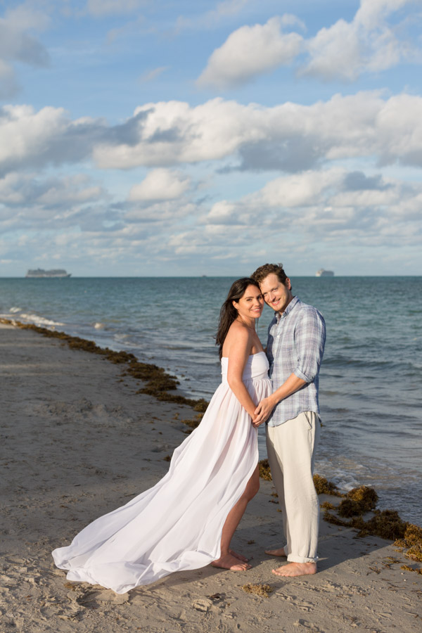 Crandon Park Maternity Photography Sunset Beach Session