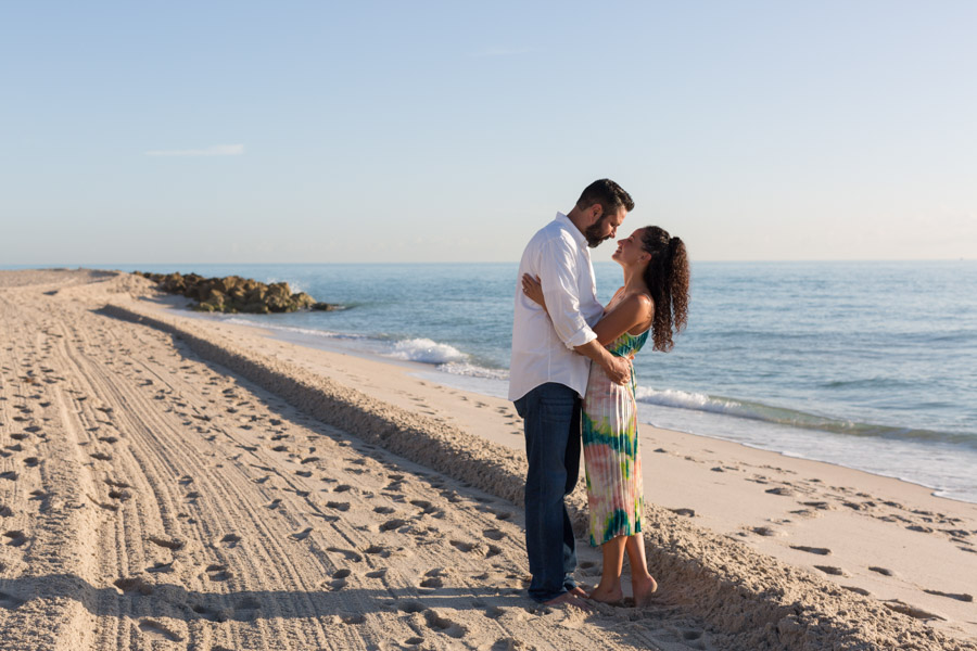 Miami Beach Sunrise Engagement Session Palms Hotel