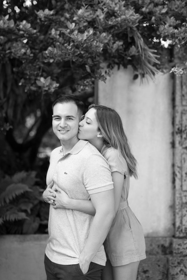 black and white couple pose idea