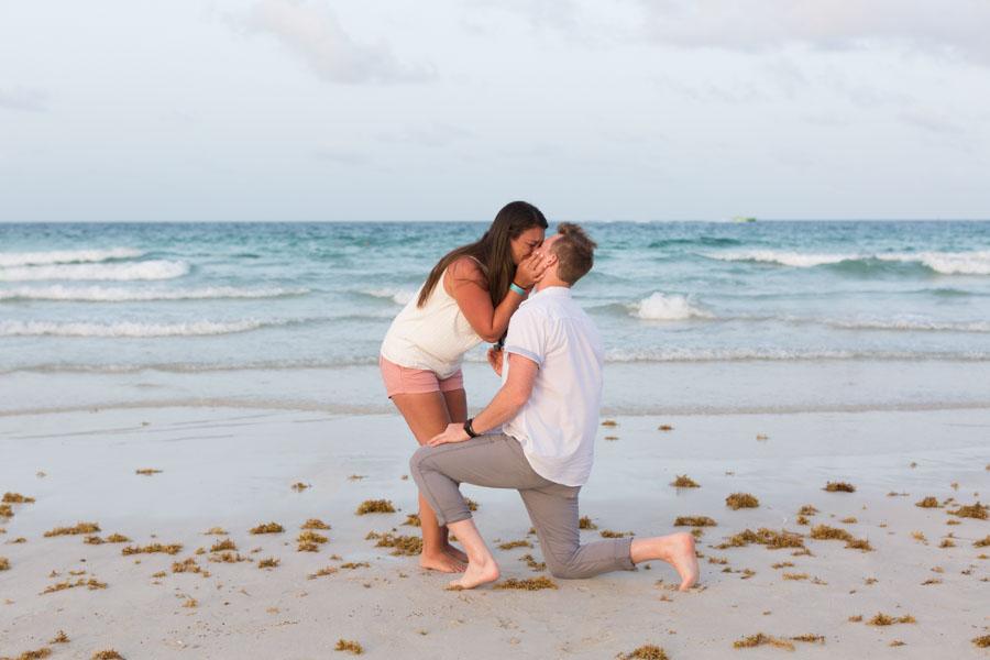 South Beach Surprise Proposal Photographer