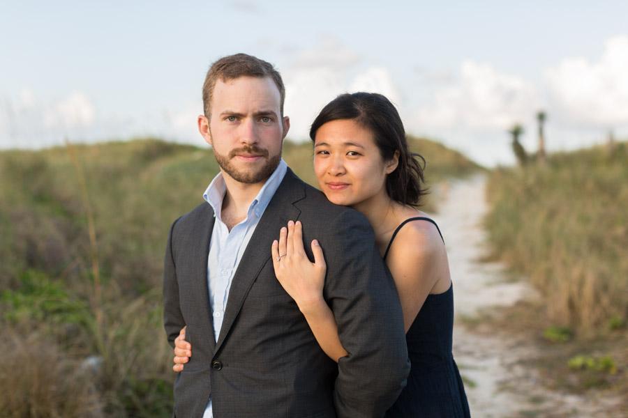 couple portrait miami park